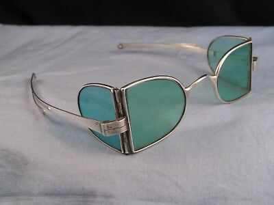 Spectacles Antique Georgian Silver Reading Tinted Glasses Sunglasses Steampunk