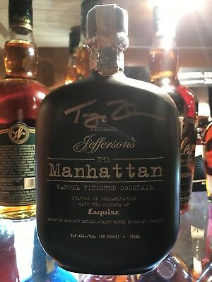 Jefferson's Reserve Manhattan Collectible Bottle Signed by Trey Zoeller-Founder