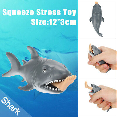 12cm Funny Toy Shark Squeeze Stress Ball Alternative Humorous Light Hearted UK