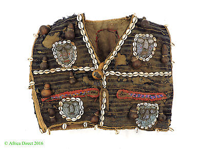 Yoruba Beaded Tunic with Cowries and Amulets  Nigeria African Art