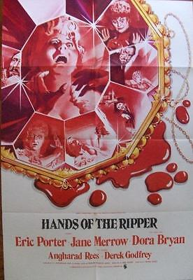 Hammer Horror Hands Of The Ripper Original Uk Country Of Origin Unused One Sheet