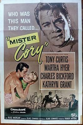 Tony Curtis Martha Hyer Reynold Brown Orig Mr Cory Universal Pictures Us 1Sh