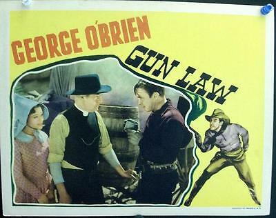 George O'brien Lot Of Two Original Vintage Western Us Lobby Cards