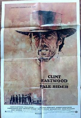 Spaghetti Western Fave Clint Eastwood Orig Pale Rider Us One Sheet Poster