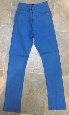 Next Boys Skinny Fit Bright Blue Jeans Age 8 Years (128cm)