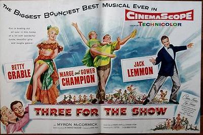 Betty Grable Original Vintage Three For The Show Color Trade Ad
