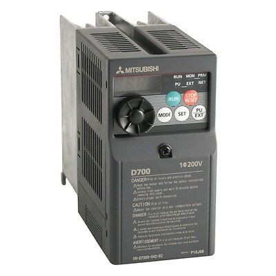 1.5Kw 2.0Hp Mitsubishi Electric D700 Single To 3Ph Inverter Fr-D720S-070Sc-Ec