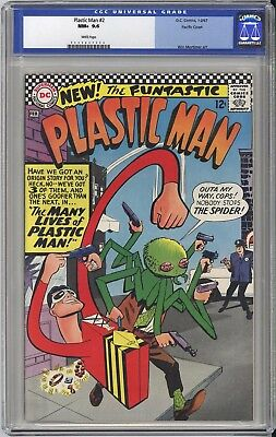 Plastic Man #2 Cgc Nm+ 9.6 - Pacific Coast Pedigree, Looks Solid 9.8 White Pages