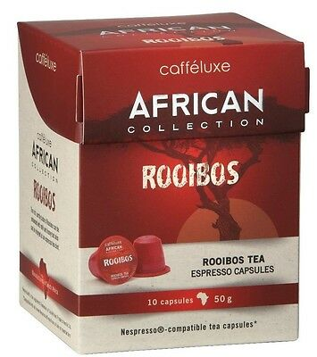 100 x Caffeluxe Rooibos - Nespresso® Compatible Tea Capsules