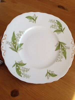 "Beautiful Royal Vale Cake Plate, 9"", Bone China, Vintage, Immaculate, 1950's"