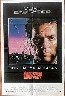 Clint Eastwood Is Dirty Harry Original Sudden Impact Us One Sheet Poster