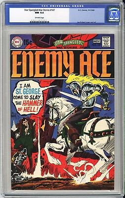 Star Spangled War Stories #147 Cgc Nm 9.4 - Looks Solid Nm+ 9.6+  Enemy Ace