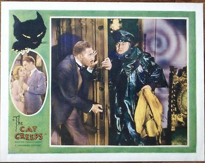 Universal Horror The Cat Creeps Orig Silent Helen Twelvetrees Us Lobby Card