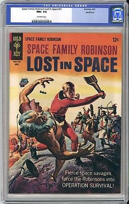 Space Family Robinson #21 Cgc Nm+ 9.6 - Northland Pedigree - Very Old Label