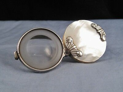 Antique Magnifying Glass Loupe Georgian Silver Pearl 1800 Martins Margin ?