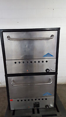 Castle 2B30N Double Stack Bake Ovens Natural Gas Tested Baking