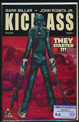 MARVEL COMICS KICK-ASS #3 2008 CBCS RAW GRADE 9.6 1st HIT GIRL APPEARANCE
