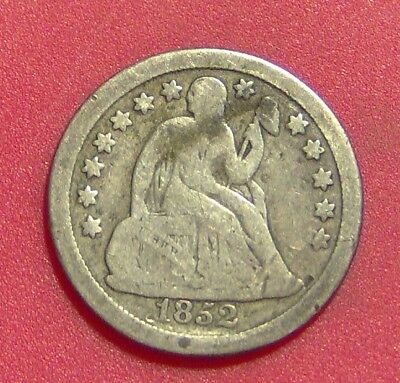 1852 O Seated Liberty Dime Silver Ten Cent Piece Free Shipping B1095