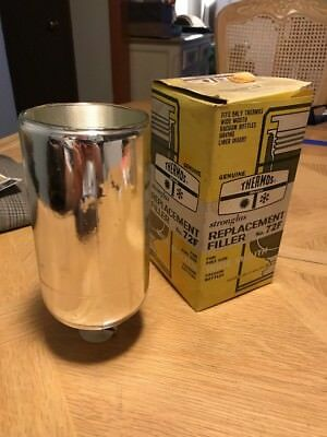 Vintage Thermos Brand 72F Stronglas Replacement Filler Wide-Mouth Pint Size NIB
