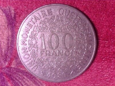 Western   African   States   100  Francs   1980