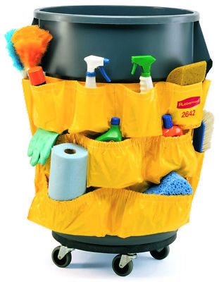 NEW Rubbermaid Commercial Yellow Caddy Bag Container Brute Trash Caddie 32G 44G