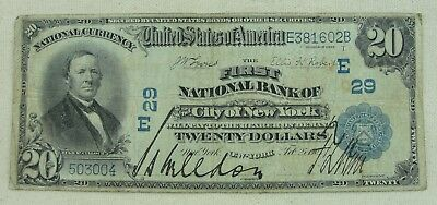 Series of 1902 - $20.00 Large National Currency - Bank of The City of New York