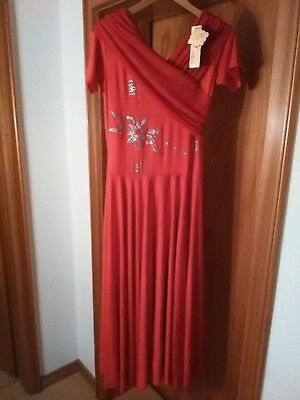 Trainingskleid Standard, Standardkleid rot Gr. 40    NEU