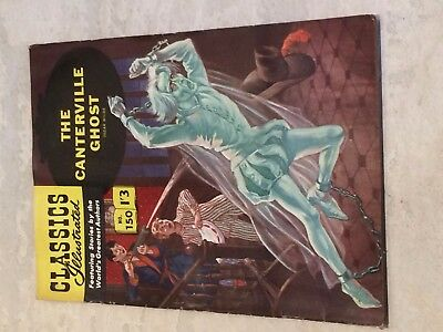 Classics Illustrated #150 THE CANTERVILLE GHOST Wilde RARE 'UK only' F/VF7 1962!