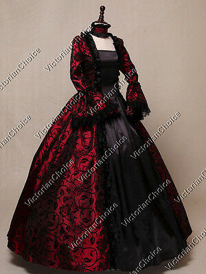Renaissance Gothic Queen Victorian Christmas Dress Ball Gown Theater Wear 119 L
