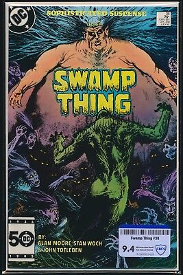Dc Comics Saga Of Swamp Thing #38 1985 Cbcs Raw Grade 9.4 Constantine Cameo