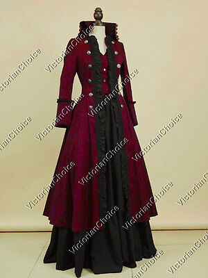 Victorian Military Game of Thrones Christmas Dress Gown Steampunk Theater 176 L