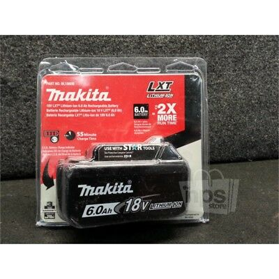 Makita BL1860B LXT Lithium-Ion Battery, 6.0 Ah, 18 Volt, 45-55 Charge Time
