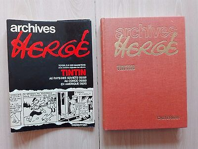 "Tintin – ""Archives Hergé - Vol. 1''- Eighth French Edition + Free Bag"