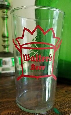 Vintage Walter's Beer Glass It's Always Xmas with Walter's Christmas Holiday