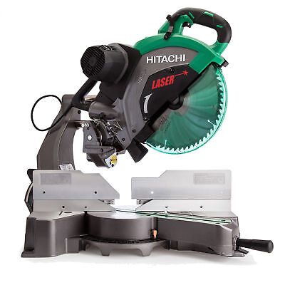 "Hitachi C12RSH2 15A 12"" Dual Bevel Sliding Compound Miter Saw with Laser New"