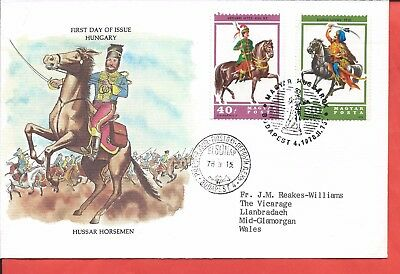 Hungary stamps. 1978 Hussar Horsemen FDC (A498)