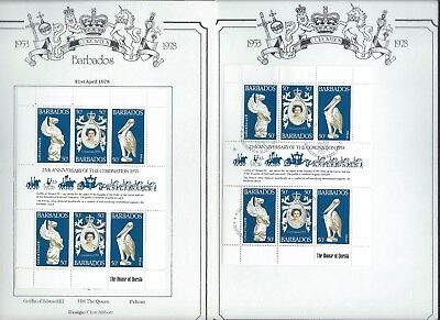 Barbados stamps. 1978 Anniversary of Coronation Used & Unused. (A552
