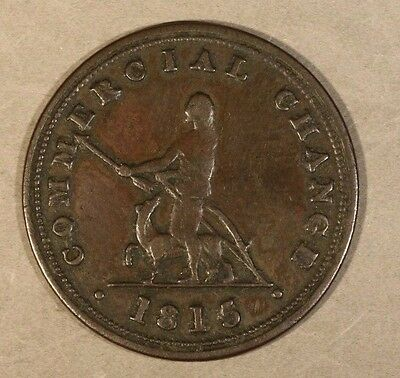 1815 Nova Scotia Half Penny Token Commercial Change     ** FREE US SHIPPING**