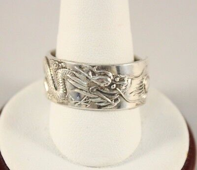 Antique Chinese Dragon Silver Ring