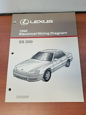 new 1995 lexus es300 electrical wiring diagram manual usa & canada