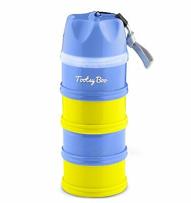 Tootsy Boo formula milk powder dispenser and snack container - 4 feeds, no on'
