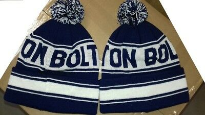 Bolton  Pom Pom  Bobble  Beanie Hat Wooly  Knitted Hat The Wanderers
