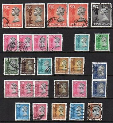 HONG KONG 1992 Group of 28 Fine To Very Fine Used All nice looking Sound Quality