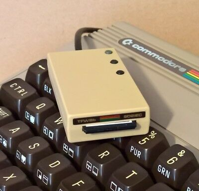Beige SD2IEC Commodore 1541 Disk Drive Emulation SD Card Reader Vic20 C128 C64