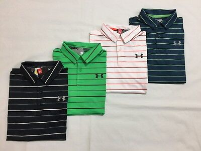 New Under Armour Youth Boy's Heat Gear Golf Loose Fit Polo Shirts