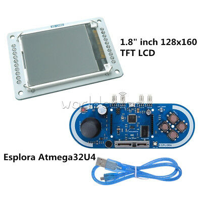 "Atmega32u4 5V Esplora Joystick Game Programming 1.8"" inch TFT LCD For Arduino"