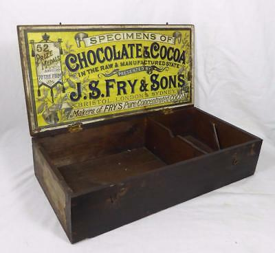 "Vintage - c1890~ ""Fry's Specimens Chocolate & Cocoa""~ Delivery / Display Box  #1"