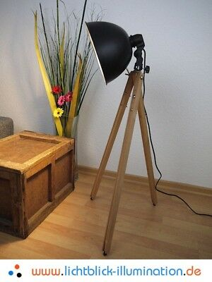 tripod holz steh stativ lampe leuchte scheinwerfer bauhaus artdeko eur 129 90. Black Bedroom Furniture Sets. Home Design Ideas
