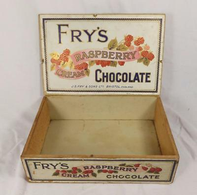 Vintage ~ Original  - Fry's ~Raspberry Cream Chocolate ~ Shop Delivery Box   #20