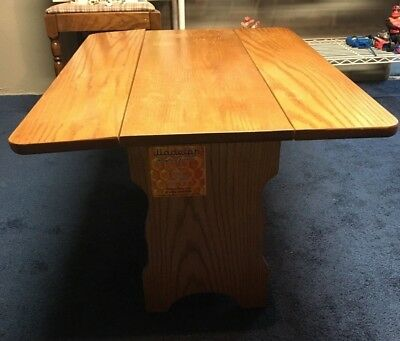 Solid Oak Drop Leaf Coffee Table  PICK UP ONLY MACUNGIE, PA